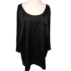 Lane Bryant 26/28 Black Satin knit top